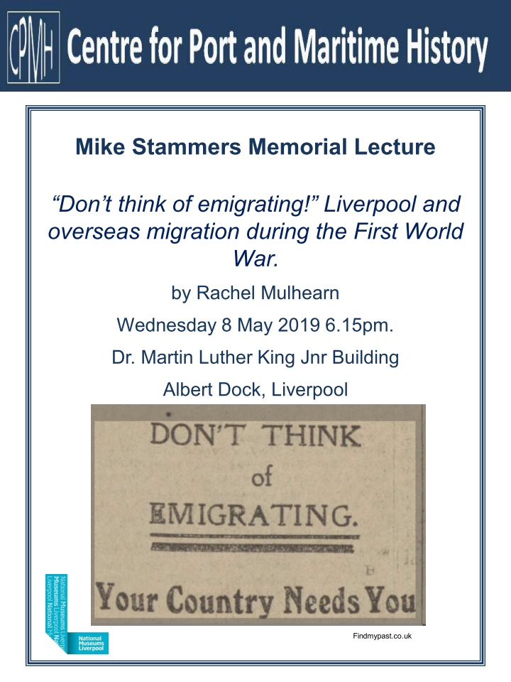 Mike Stammers Memorial Lecture 8 May 2019
